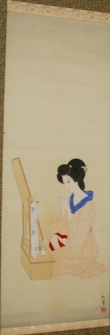 JAPANESE GEISHA GIRL SCROLL - 2
