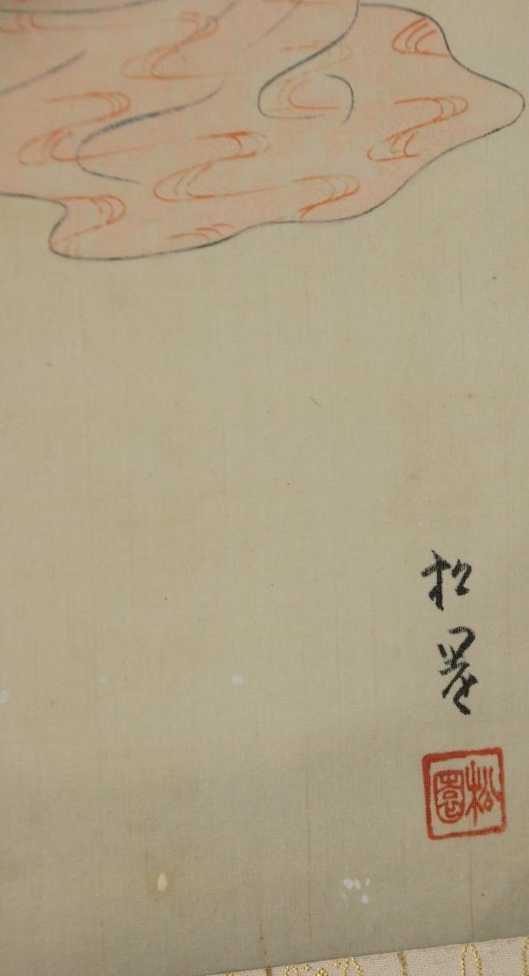 JAPANESE GEISHA GIRL SCROLL - 3