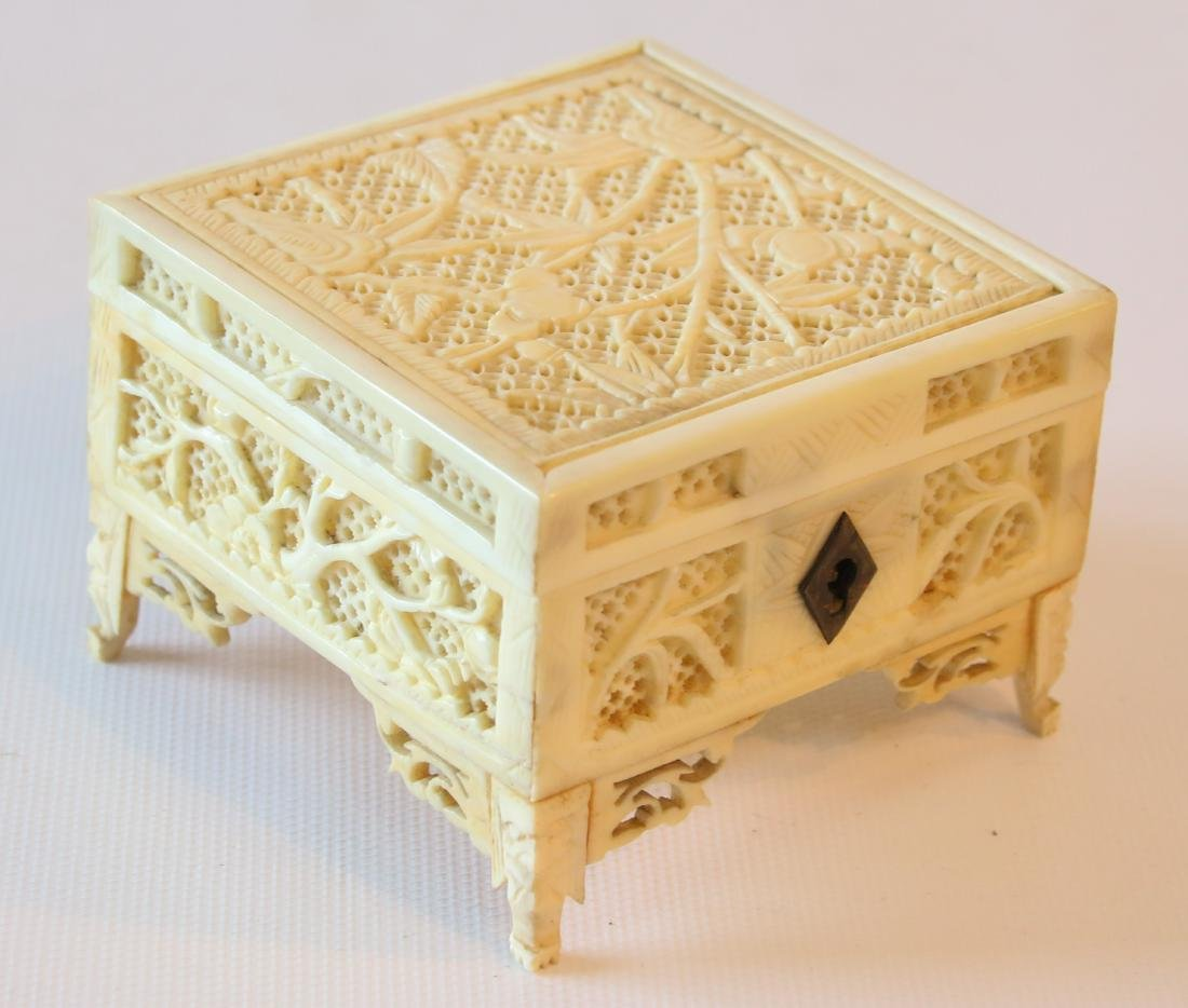 CHINESE CARVED CRICKET BOX - 2