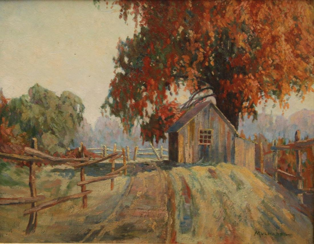FREDERICK MULHAUPT OIL ON BOARD
