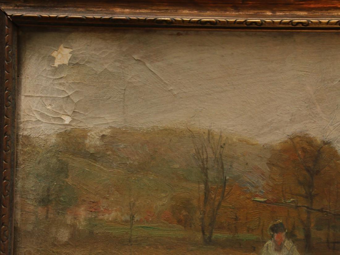 A. BRYAN WALL OIL ON BOARD - 3