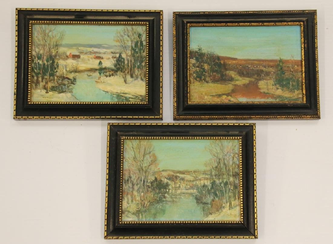 (3) WALTER E. BAUM OIL ON BOARD