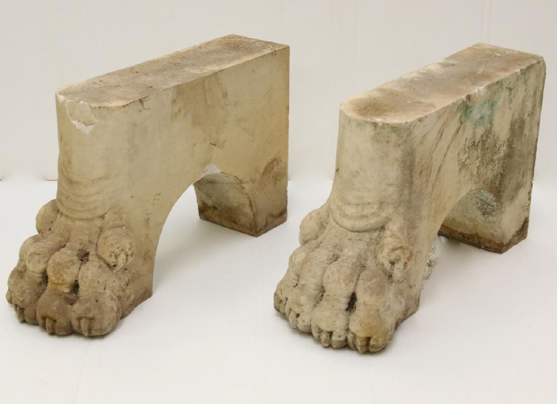 ANTIQUE FIGURAL MARBLE FEET
