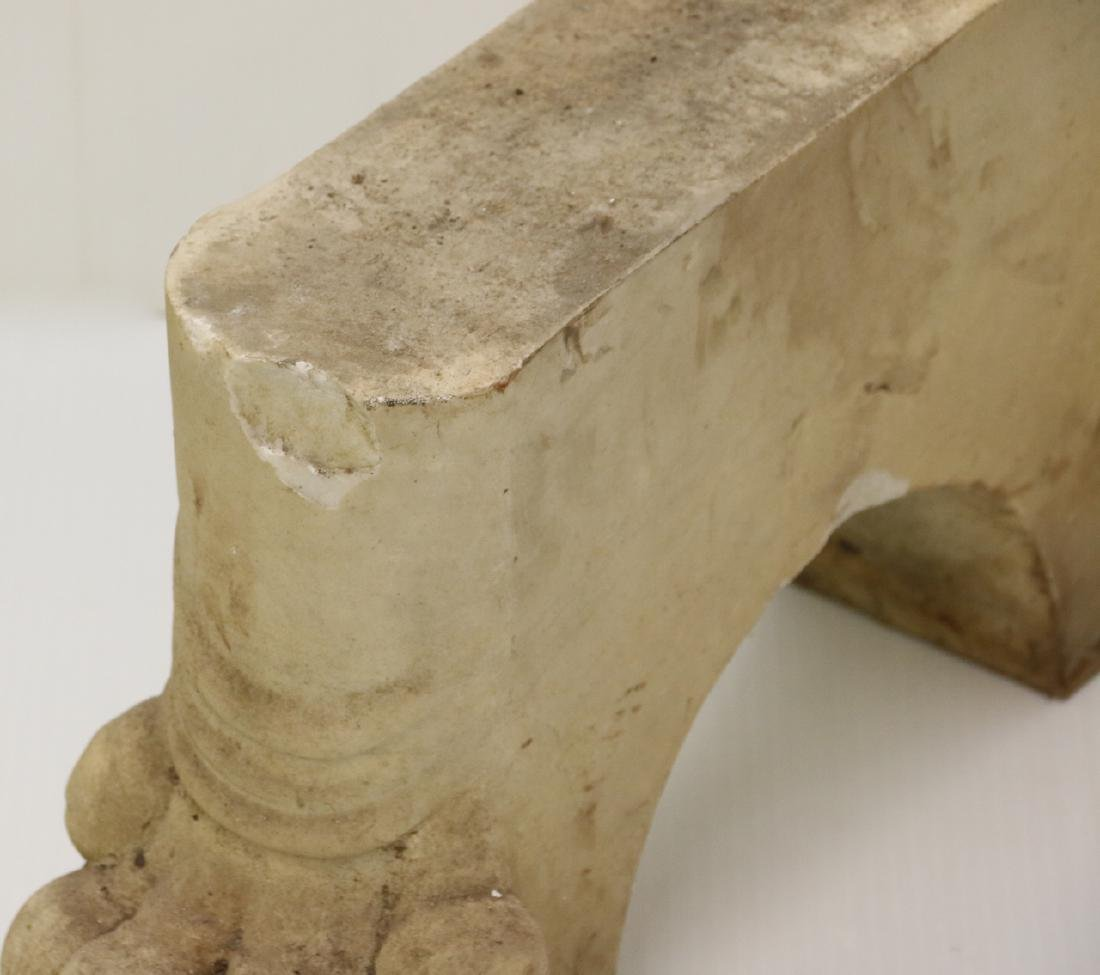 ANTIQUE FIGURAL MARBLE FEET - 2