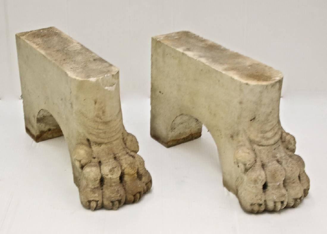 ANTIQUE FIGURAL MARBLE FEET - 3