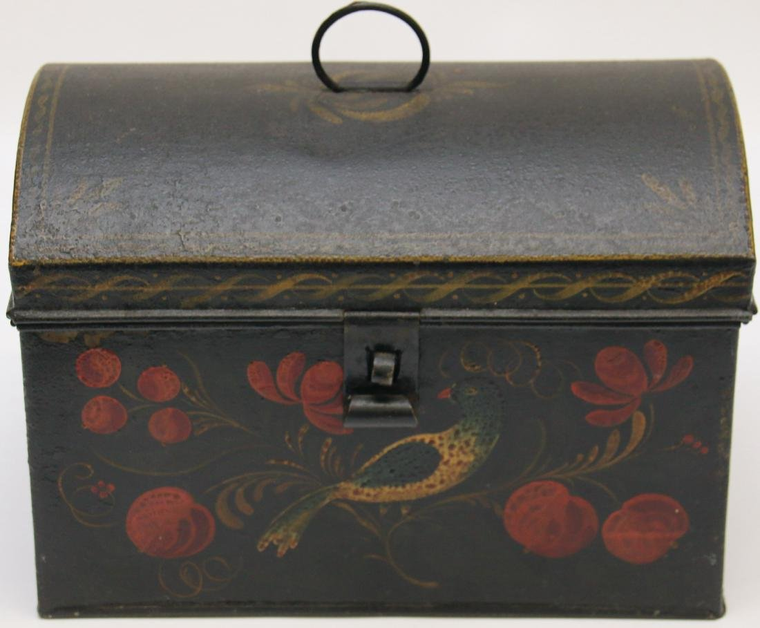TOLEWARE DECORATED DOCUMENT BOX