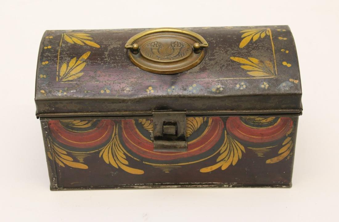TOLEWARE DECORATED TIN BOX