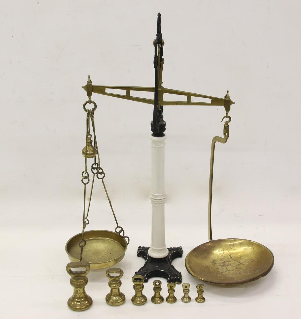BRASS AND CAST IRON BALANCE SCALE