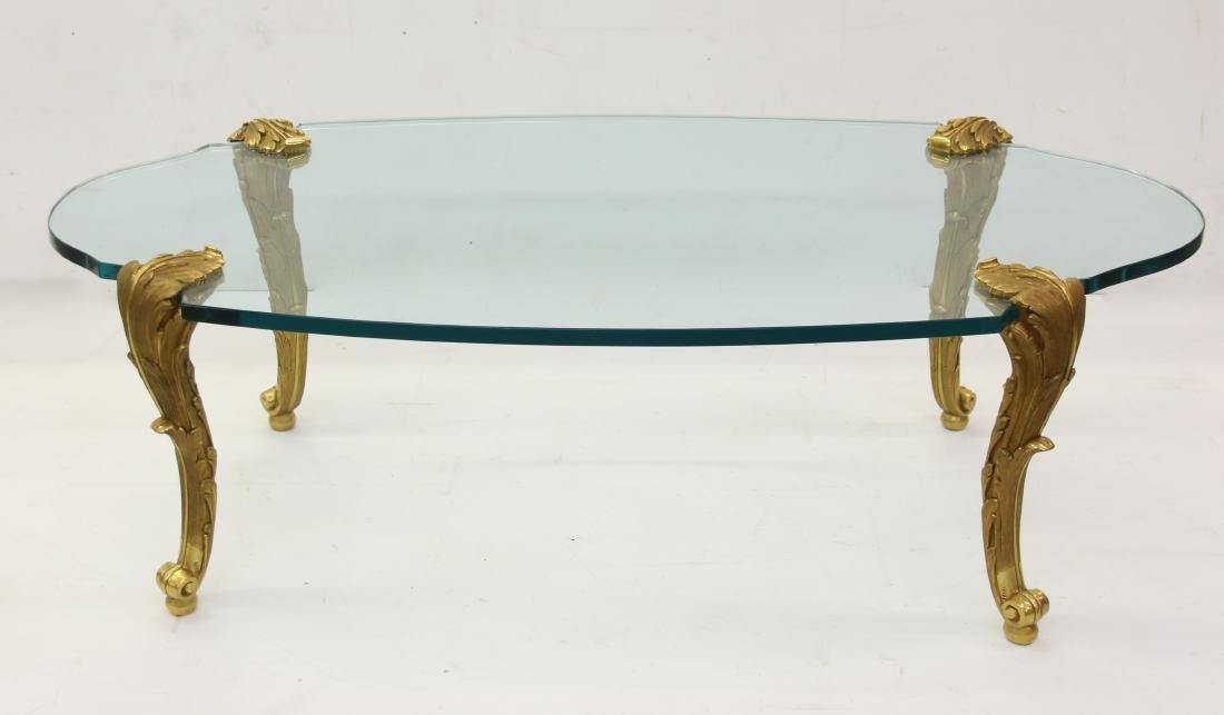 LOUIS XV GILT BRONZE COFFEE TABLE