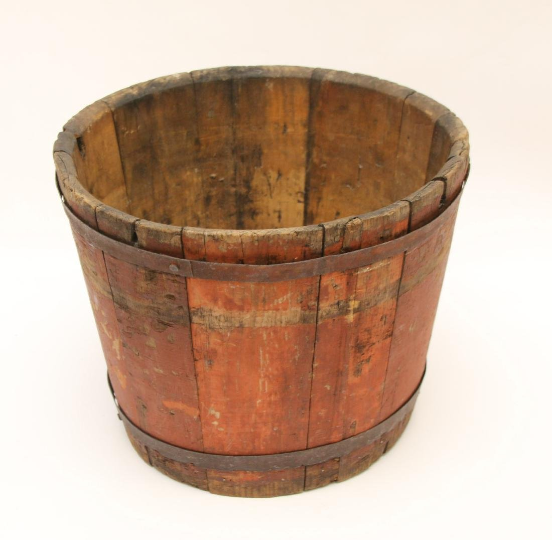 ANTIQUE WOODEN BUCKET - 2