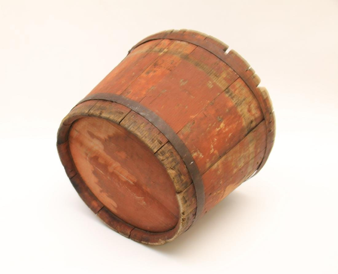 ANTIQUE WOODEN BUCKET - 3