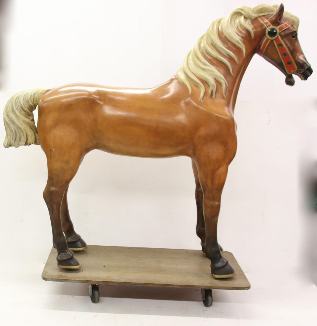 WOODEN CAROUSEL HORSE - 2