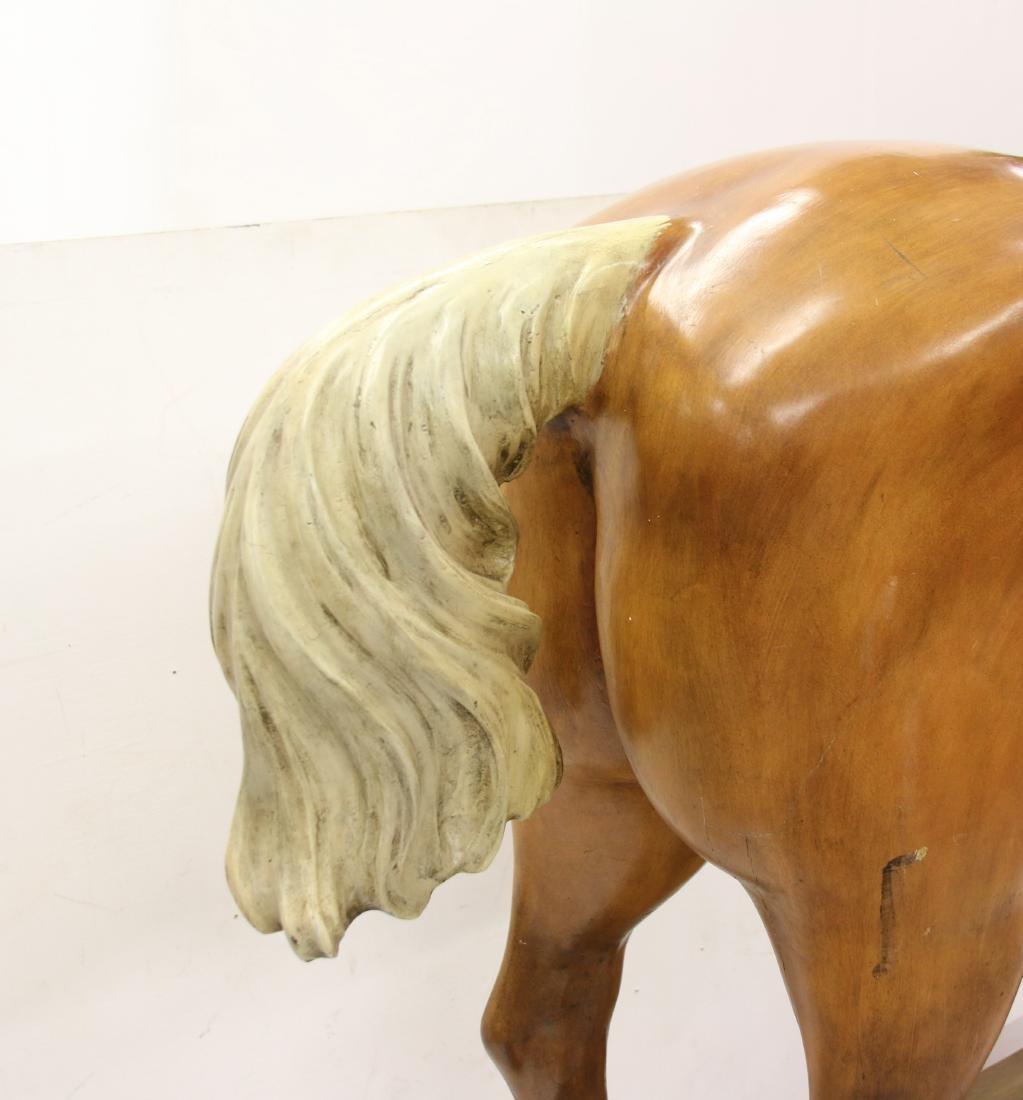 WOODEN CAROUSEL HORSE - 3