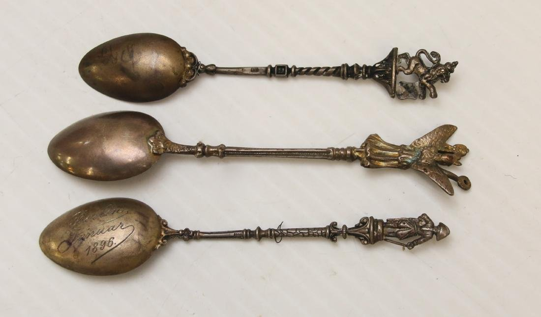 ENAMELED SILVER SOUVENIR SPOON LOT - 2