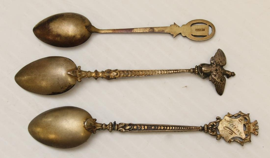ENAMELED SILVER SOUVENIR SPOON LOT - 3