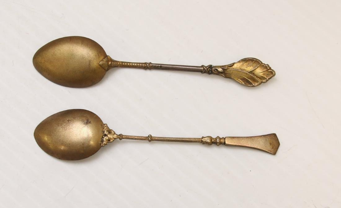 ENAMELED SILVER SOUVENIR SPOON LOT - 4