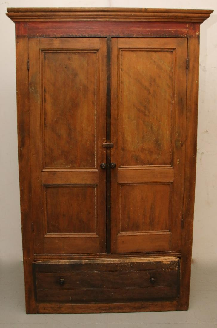 EARLY TWO DOOR CUPBOARD