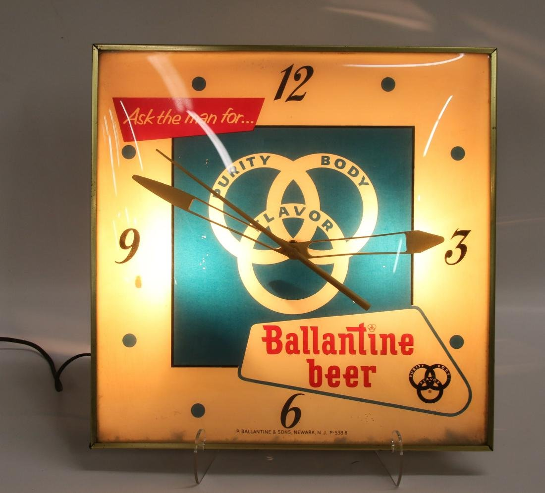 BALLANTINE BEER ADV. CLOCK