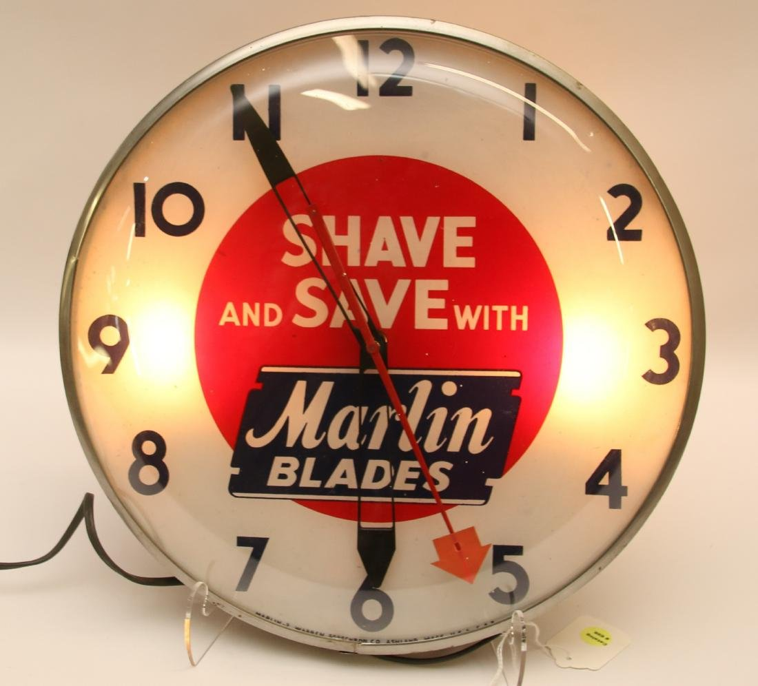VINTAGE ADVERTISING CLOCK