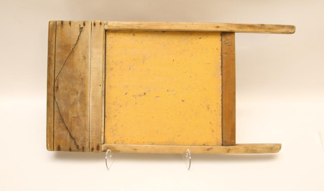 EARLY YELLOW WARE WASHBOARD - 2