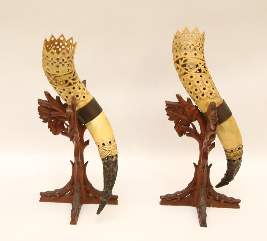 PR. OF DECORATED HORN DISPLAYS - 2