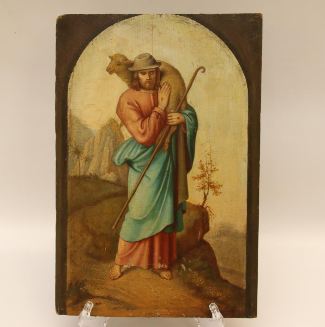 HAND PAINTED WOODEN PANEL