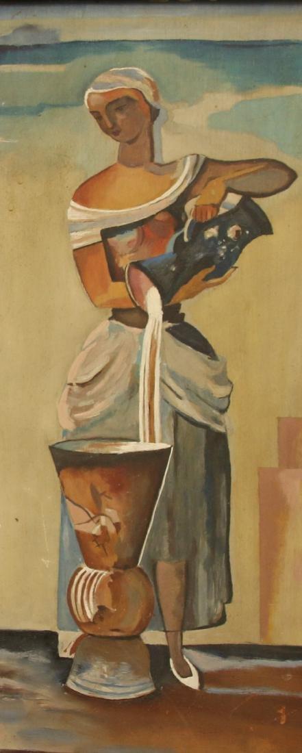 WOMAN OIL ON BOARD