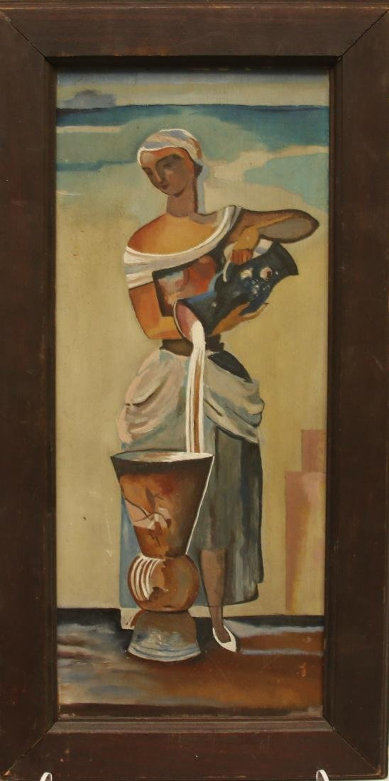 WOMAN OIL ON BOARD - 2