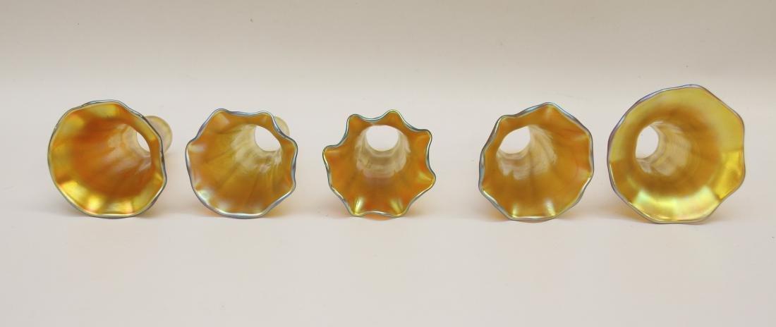 ART GLASS SHADE LOT - 4