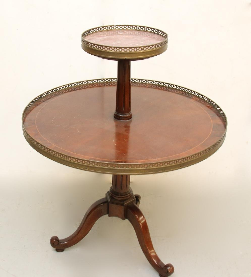 MARBLE TOP TIER TABLE
