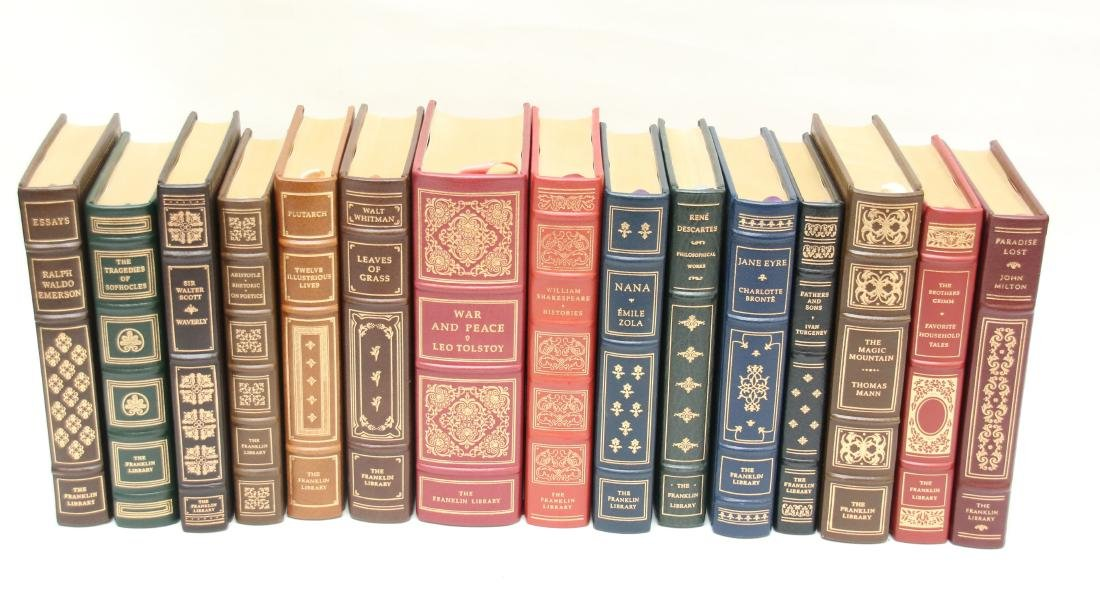 LEATHER BOUND BOOK LOT - 2