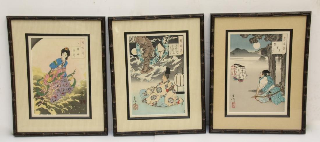 (3) YOSHITOSHI WOODBLOCK PRINTS
