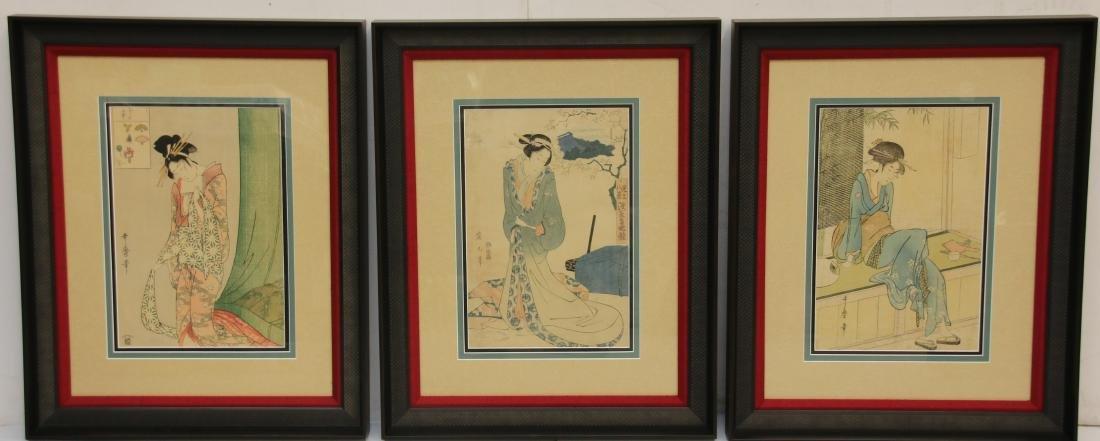 (3) JAPANESE WOODBLOCK PRINTS