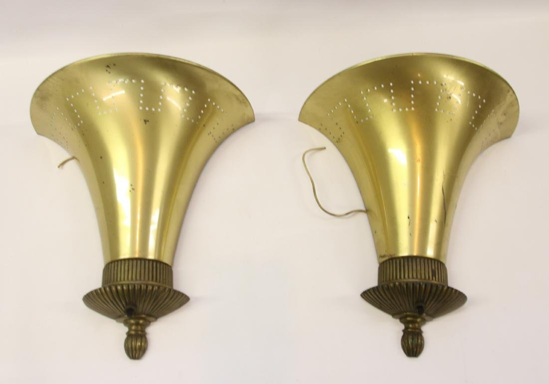PR. OF ART DECO WALL SCONCES