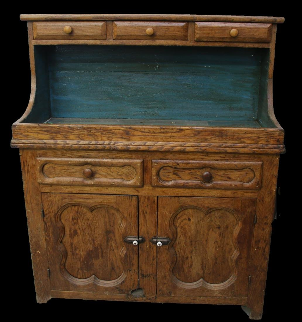 EARLY WOODEN DRY SINK