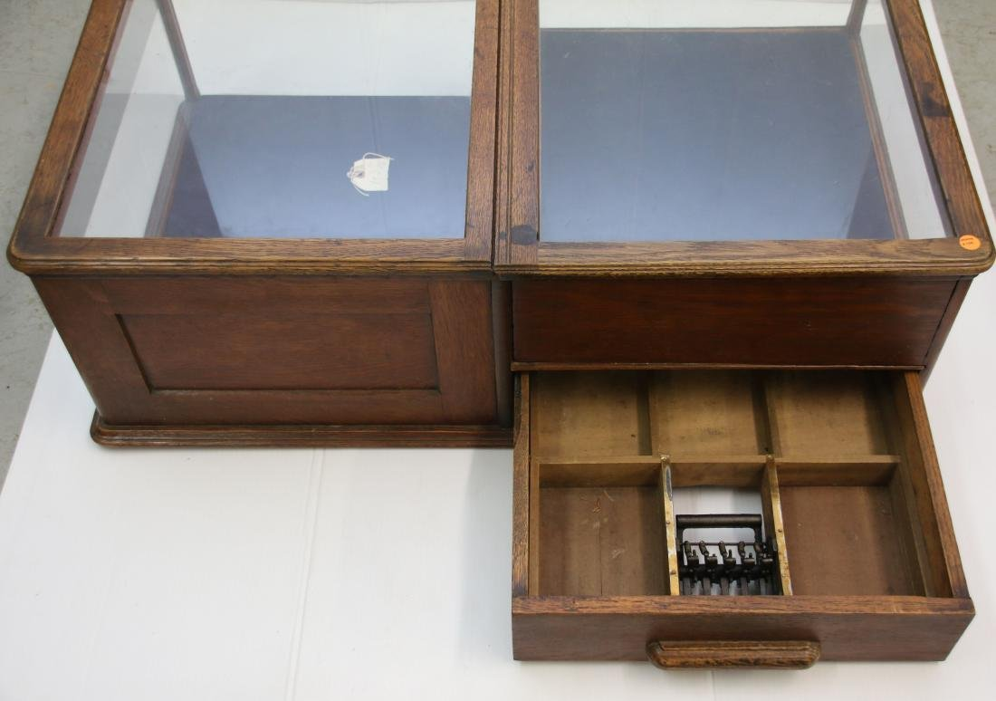 OAK COUNTER DISPLAY CASE - 2