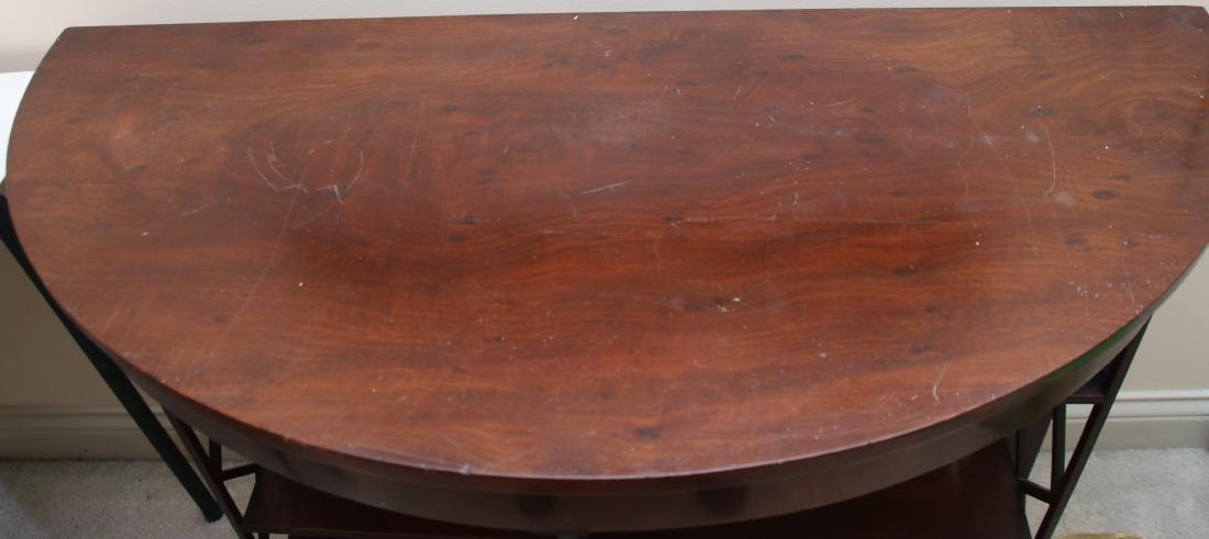 MAHOGANY DEMI-LUNE TABLE - 2