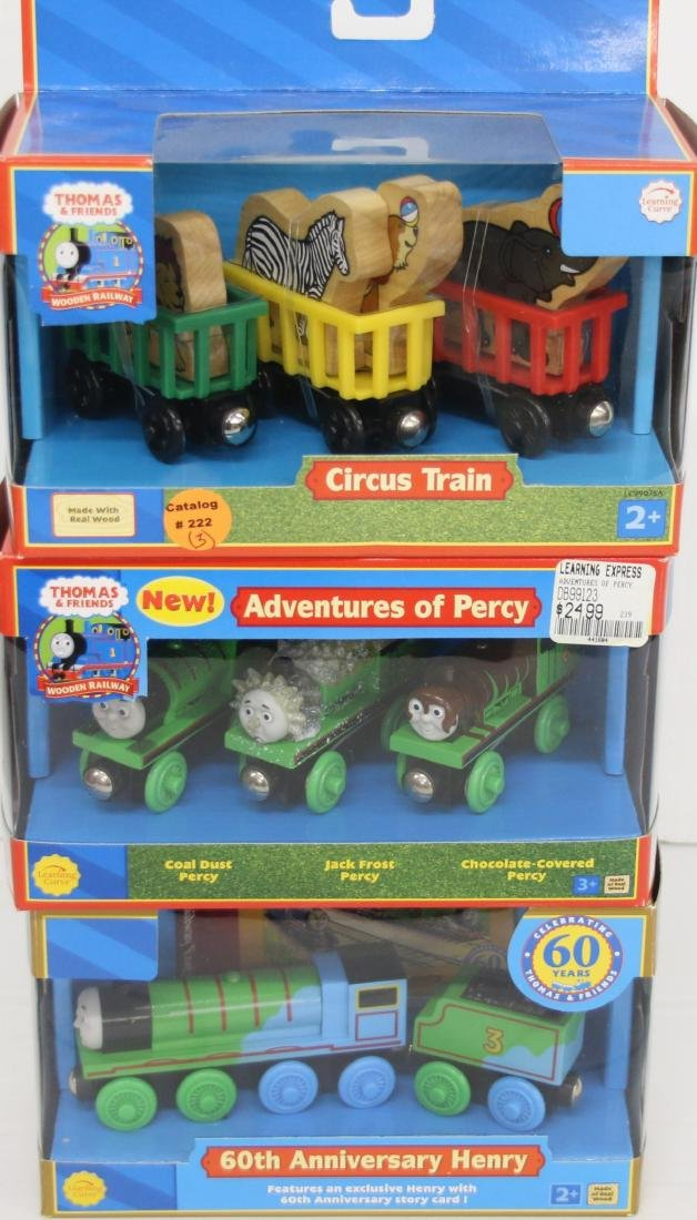 "(3) Thomas the Tank Engine ""Circus Train"", ""Adventure"