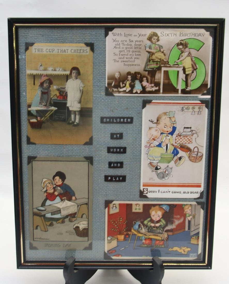 FRAMED ADVERTISING CARD LOT - 2