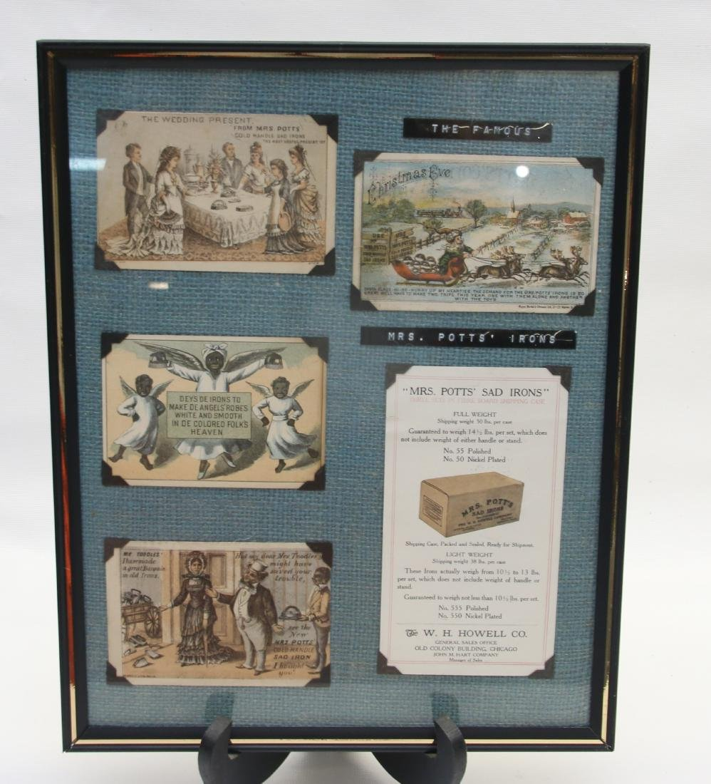 FRAMED ADVERTISING CARD LOT - 4