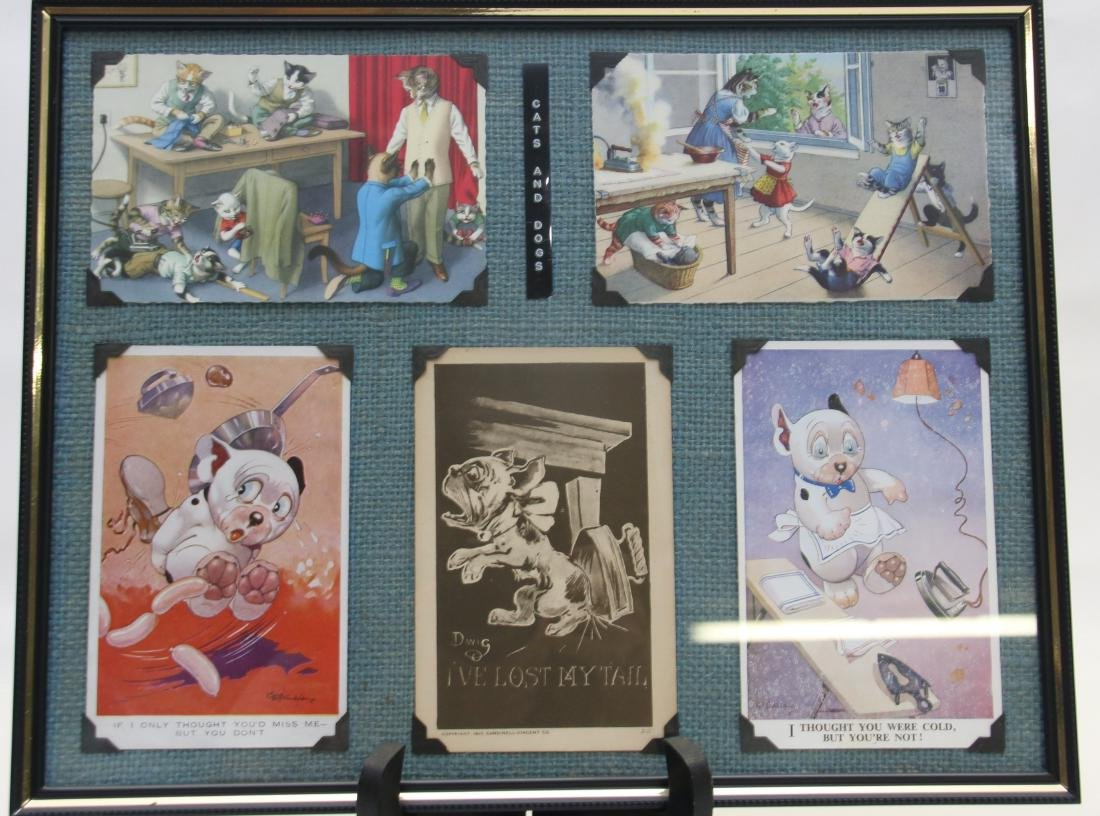 FRAMED ADVERTISING CARD LOT - 5
