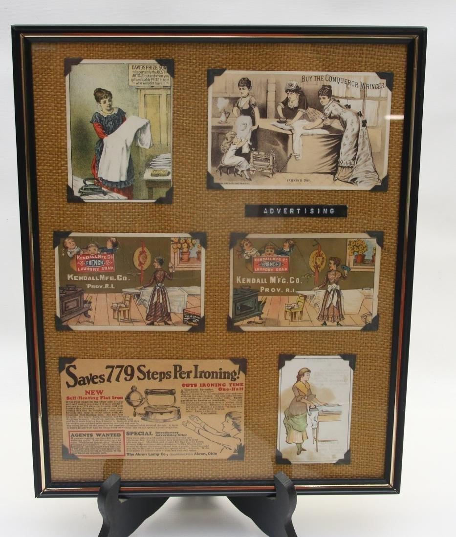 FRAMED ADVERTISING CARD LOT - 2