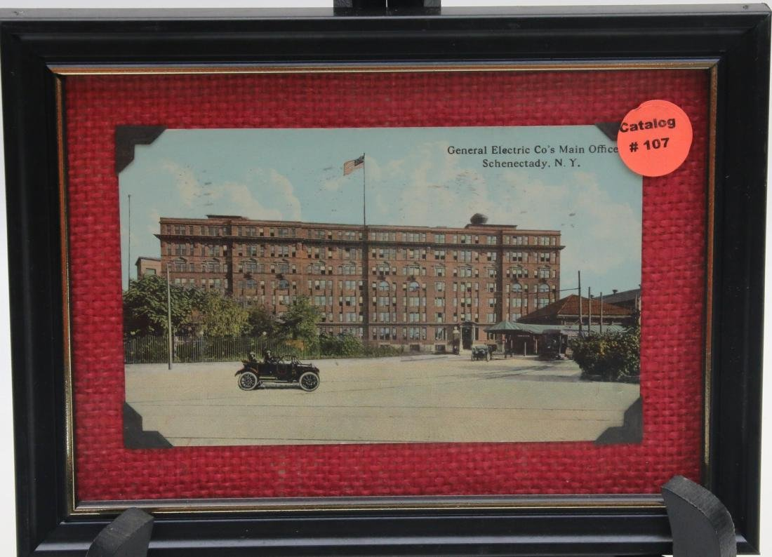 FRAMED ADVERTISING CARD LOT