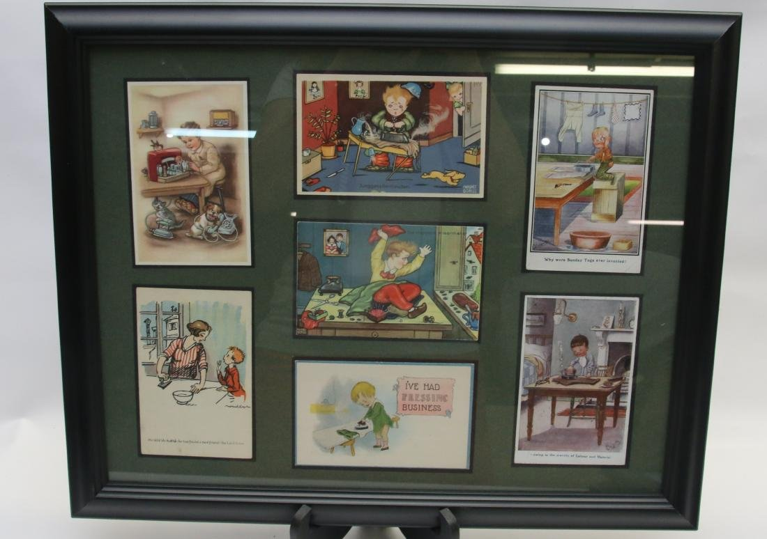 FRAMED ADVERTISING CARD LOT - 3