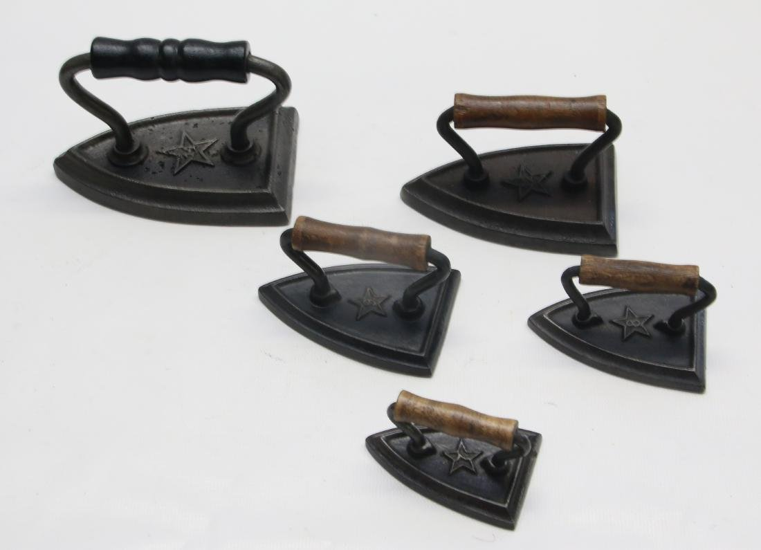GROUP LOT OF MINIATURE SAD IRONS - 2