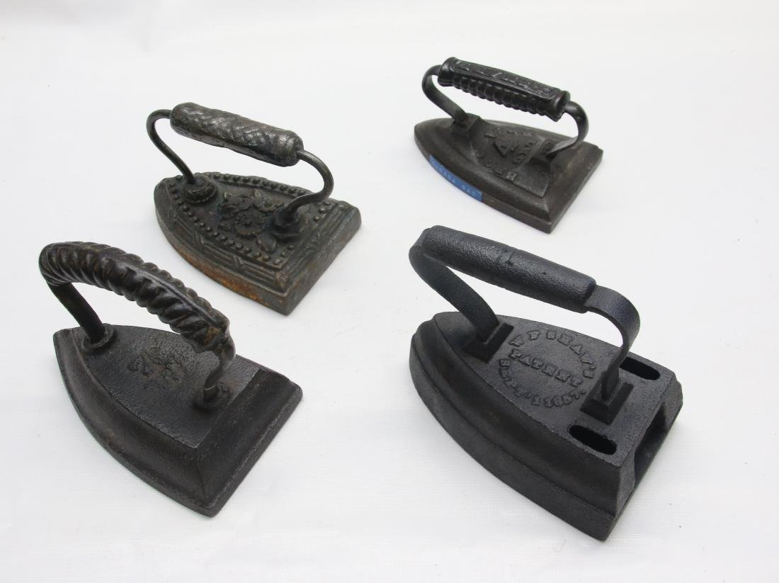 GROUP OF ANTIQUE SAD IRONS