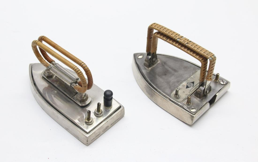 PAIR OF ELECTRIC TRAVEL IRONS