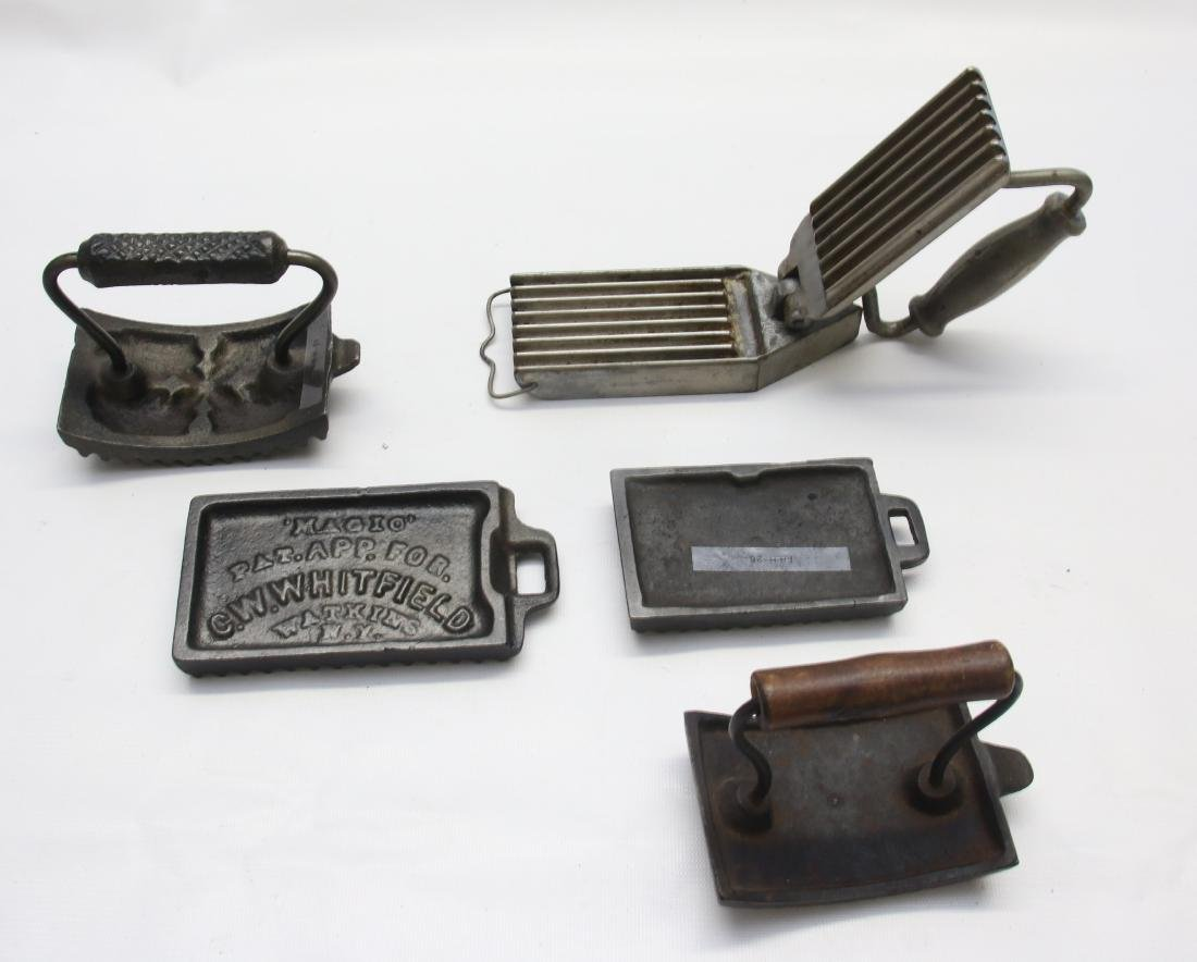 GROUP LOT OF FLUTING IRONS - 2