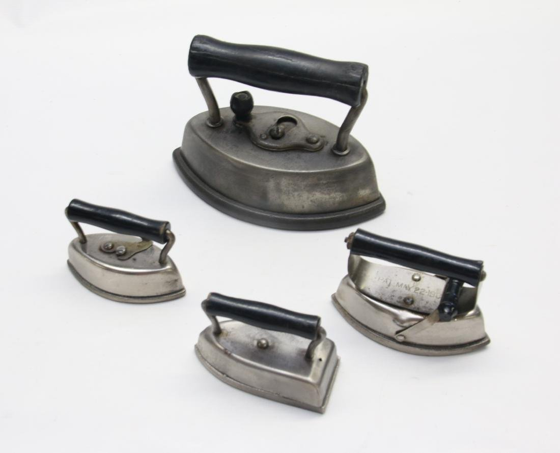 GROUP LOT OF DETACHABLE HANDLE IRONS