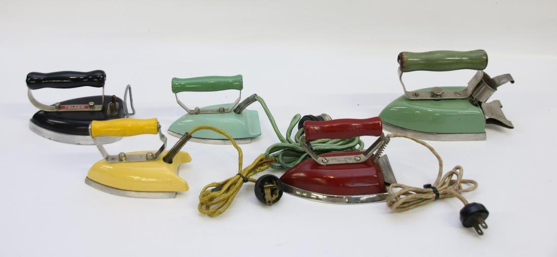 GROUP LOT OF TRAVEL IRONS